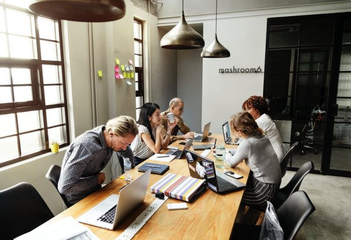 PR team having a meeting