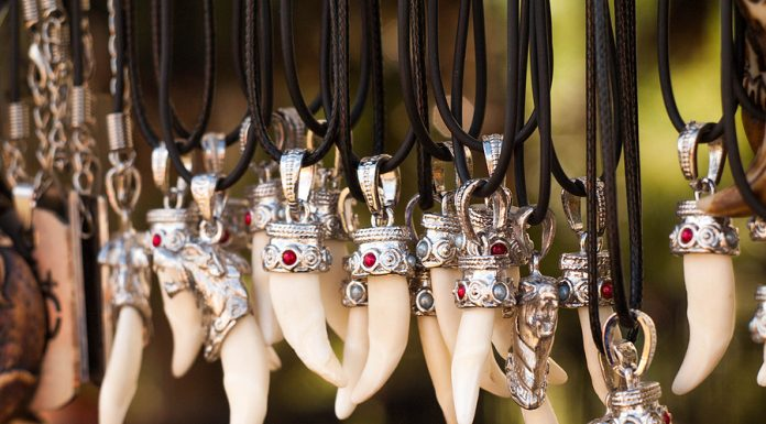 New Zealand necklace bone