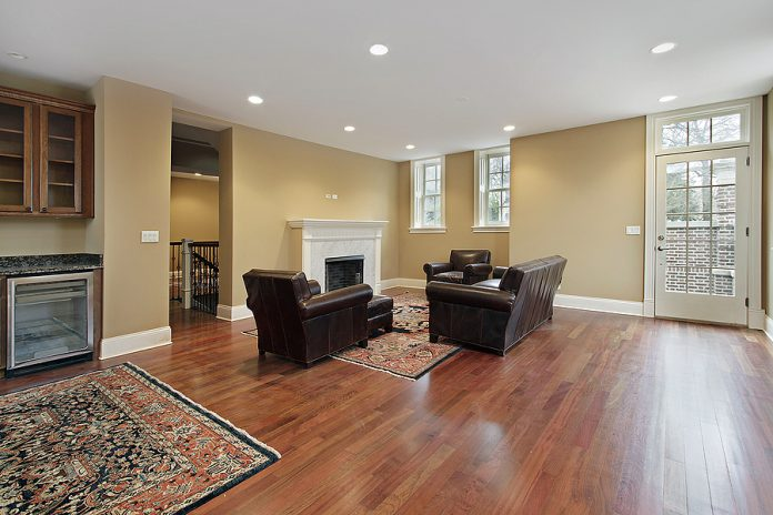 Living room with timber flooring