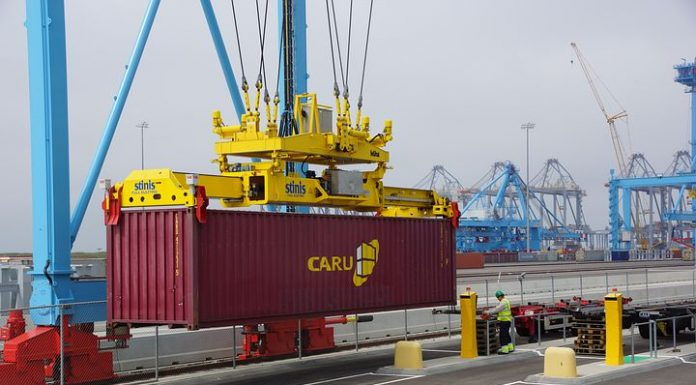 container unloading