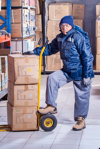 Male worker in a warehouse